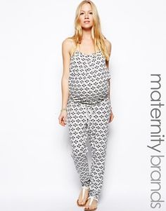 Enlarge Mamalicious Printed Jersey Jumpsuit