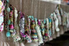 Diy fabric garland - Hazlo tu misma: guirnalda de tela