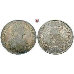 Römisch Deutsches Reich, Maria Theresia, Taler 1763, vz-st/st: Maria Theresia 1740-1780. Taler 1763 Hall. Dav. 1120;… #coins