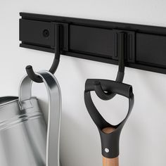 """BRANDUR Hook, in-/outdoor, black, Depth: 3 ½"""" Maximum load/hook: 44 lb. Suitable for both indoor and outdoor use. This generous hook is durable, easy to clean and protected from rust since it is made of powder-coated galvanized steel. Ikea Usa, Console, Le Double, Synthetic Rubber, Galvanized Steel, Powder Coating, Made Of Wood, Cleaning Wipes, Crochet"""