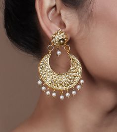 Pearl Embellished Dangler Earrings by Indiatrend Shop now on www.indianroots.com
