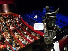 July 5th 2016. Filming in the Amphion Theater in Doetinchem. A huge school art project.  Used both te AC130 and the Panasonic.