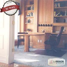 With this #tbt #throwbackthursday we take a look at this vintage #office that still captivates us today #superiorcabinets #greatroom #room #yyc #yeg #ymm #yqr #yxe #saskatoon #regina #calgary #edmonton