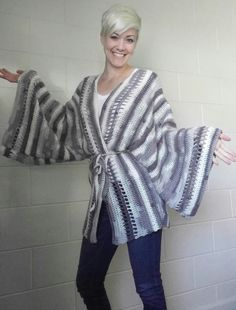 If you can chain, double crochet, treble crochet and whip stitch pieces together, you can make this kimono! Granted, this is not a super quick project (unless you are a quick crocheter!) it is tota…
