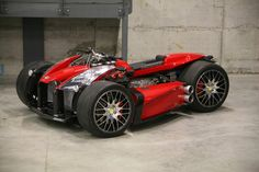 The quad bike Lazareth Wazuma is powered by a Ferrari liter engine, with massive 250 hp and it weighs The Wazuma has two spaced front… Trike Motorcycle, Motorcycle Style, Women Motorcycle, Ferrari, Custom Motorcycles, Cars And Motorcycles, Custom Choppers, Bmw M3, Reverse Trike