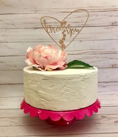 "Adorn your wedding cake with this adorable cake topper! ""I choose you"" is a way to tell your new spouse how special they are, and this topper shares the sentiment with your guests as you cut the cake! The script font is accented with flowers and surrounded by an asymmetrical heart. The"