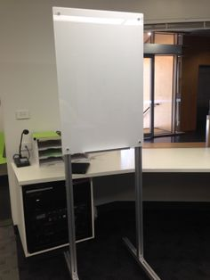 Mobile magnetic glass boards on our element stand. www.endoofficefurniture.com.au
