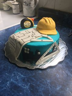 grooms cake for civil engineer Birthday Cakes For Men, Themed Birthday Cakes, Birthday Cupcakes, Themed Cakes, Fondant Cakes, Cupcake Cakes, Mechanic Cake, Camping Theme Cakes, Engineering Cake