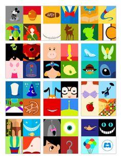 Disney collage -- so cool Disney Canvas Paintings, Disney Canvas Art, Mini Canvas Art, Disney Symbols, Disney Icons, Disney Collage, Minimalista Disney, Mini Tela, Disney Minimalist