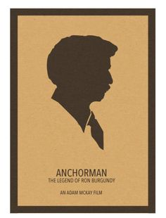 Anchorman: The Legend of Ron Burgundy (2004) ~ Minimal Movie Poster by David Peacock