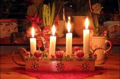 Adventsljusstake - Swedish Advent candles