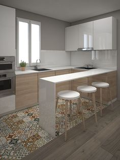 Modern Kitchen Interior Cool 45 Modern Contemporary Kitchen Ideas - Browse photos of Small kitchen designs. Discover inspiration for your Small kitchen remodel or upgrade with ideas for organization, layout and decor. Kitchen Ikea, Kitchen Sets, Kitchen Interior, New Kitchen, Kitchen Decor, Kitchen Small, Kitchen Flooring, Kitchen Modern, Kitchen Island