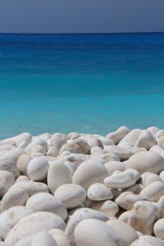 White and all shades of blue... Myrtos beach, Kefalonia island ~ Greece