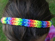 Rainbow loom amerastrand headband reverse side