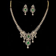 Diamond necklace set for $ 11,936.66 at Shree Jewelers