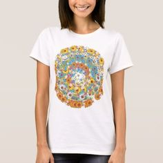 1960s vintage floral flower pattern T-Shirt - click/tap to personalize and buy