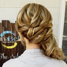 Architectural Braids-fancy side ponytail updo