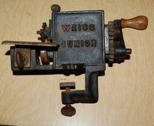 "Early 1900's Cast Iron  ""Weiss Junior"" Hand Crank Pinker Trimmer"