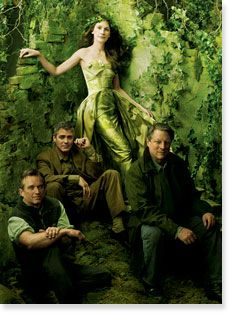 Vanity Fair - A quartet of eco–power players, capturing Hollywood glamour and activist passion: Robert F. Kennedy Jr., Al Gore, Julia Roberts, and George Clooney