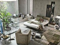 ideas de jardín interior en el dormitorio moderno