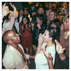 Pin for Later: Cheers to 2 Years! Look Back on Kim Kardashian and Kanye West's Lavish Italian Wedding Photos