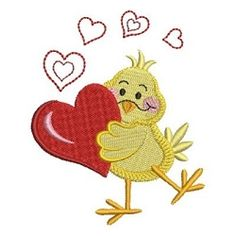 Valentine Animal 5 - 4x4 | What's New | Machine Embroidery Designs | SWAKembroidery.com Ace Points Embroidery