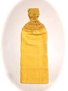 Yellow Hand Towel With Cornmeal Yellow by MeAndMomsCrafts on Etsy