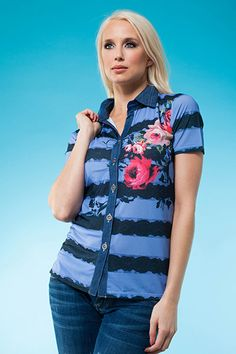 This denim-friendly collared shirt will make you stand out on the golf course or anywhere else! Spring 2014, Spring Summer, Collars, Golf, Vest, Denim, How To Make, Jackets, Shirts