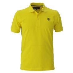 Men's Ferrari Shield Polo Shirt #ferrari #ferraristore #polo #poloshirt #prancinghorse #cavallinorampante #menswear #scuderia #scuderiaferrari