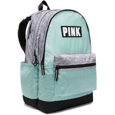 Cute Backpacks in New Colors & Styles - PINK ($55) ❤ liked on Polyvore featuring bags, backpacks, pink rucksack, rucksack bags, victoria secret backpack, green bag and day pack backpack