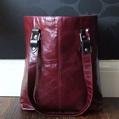 Coloured leather bags - new fave item.