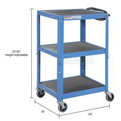 Global Industrial Steel Audio Visual & Instrument Cart - Blue