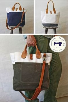 Loving these bags by Chicago-based Winter Session ... Just might be the perfect work bag. Images from Vitrine via Well Spent.