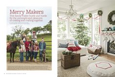 Dreamy Whites: Thank You Better Homes and Gardens....Florabella Actions Their Home was featured in BH Holiday Issue...