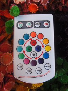 Remote that comes with the teardrop and oval LED color changing lights.