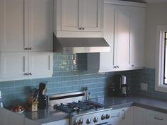 Blue White Backsplash Kitchen Tiles