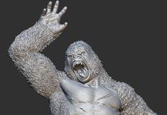 Tarzan vs Silverback, Ehren Bienert on ArtStation at https://www.artstation.com/artwork/Z3RAG