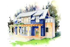 House Plan #479-4 by Peter Brachvogel,    1914 sq. ft., 3 Bedrooms, 2.50 Baths, 50 ft. Wide,  29 ft. deep.