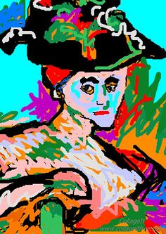 The woman with the hat. After Monet.