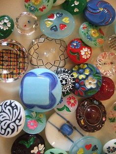 Czech Glass Buttons by Vintage Pleasure and Agnes Darling, via Flickr