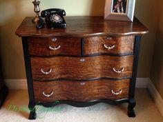 Serpentine Dresser with DIY Beaded Drawer Pulls