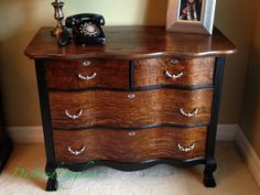 Serpentine Dresser with DIY Beaded Drawer Pulls