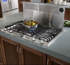 Island Cooktop Island Hood Over Wolf Range Top Remodel Ideas