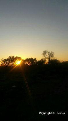 Beautiful Sunset.... captured by Renier Botha..... on farm outside Koppies