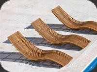 Transat de jardin design en bois Unopiu SWING