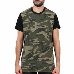 Sixth June - Camouflage Oversize Tee Noir/Camo