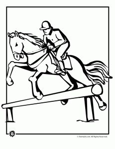 Vintage Horse Jumping Coloring Pages 58 Horse Jumping Coloring Page