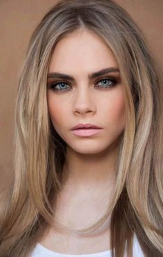 Makeup, cara delevingne eyebrows, blonde hair with dark eyebrows, dirty blo Hair Colors For Blue Eyes, Hair Color For Fair Skin, Cool Hair Color, Hair Colour, Blonde Color, Blonde Shades, Different Shades Of Blonde, Brunette Color, Brown Shades