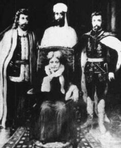 """Saint Germain on the far right (Helena Blavatsky in the middle) in 1897, after his """"death"""" in Germany in 1784 and before arriving in New Orleans in 1903."""