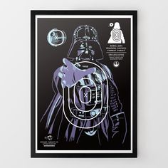 This is a series of Star Wars character shooting targets designed by Sneaky Studios and sold by Firebox. You can choose from Darth Vader, Boba Fett, a Rancor, or this Stormtrooper holding Princess Leia hostage. Star Wars Birthday, Star Wars Party, Anniversaire Star Wars, Shooting Targets, Shooting Practice, By Any Means Necessary, The Force Is Strong, Love Stars, Star Wars Characters